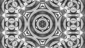 Καλειδοσκόπιων γραπτός 6 του //4k 60fps μονοχρωματικός Kaleidoscopic βρόχος υποβάθρου σχεδίων τηλεοπτικός απεικόνιση αποθεμάτων