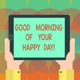 Καλημέρα κειμένων γραψίματος λέξης της ευτυχούς ημέρας σας Επιχειρησιακή έννοια για την ευτυχία καλύτερων ευχών χαιρετισμού στη ζ ελεύθερη απεικόνιση δικαιώματος