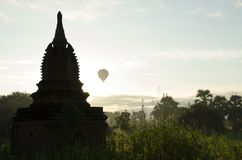 Καλημέρα στο Μιανμάρ Bagan στοκ εικόνες