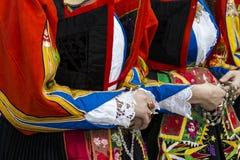 ΚΑΛΙΑΡΙ, ΙΤΑΛΙΑ - 1 Μαΐου 2016: 360 γιορτή Αγίου Efisio - της Σαρδηνίας Στοκ Φωτογραφία