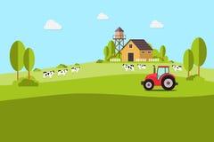 καλλιέργεια γεωργίας _ τοπίο αγροτικό Στοιχεία σχεδίου για τις πληροφορίες γραφικές, τους ιστοχώρους και το μέσο εκτύπωσης απεικόνιση αποθεμάτων