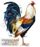 Καλλιέργεια πουλερικών Σειρά φυλών κοτόπουλου εσωτερική απεικόνιση αγροτικών πουλιών ελεύθερη απεικόνιση δικαιώματος