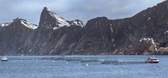 Καλλιέργεια ψαριών στη βόρεια Νορβηγία στοκ φωτογραφίες με δικαίωμα ελεύθερης χρήσης