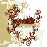 καλλιγραφία ανασκόπησης grunge Στοκ Εικόνες