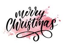 Καλλιγραφική επιγραφή Χαρούμενα Χριστούγεννας που διακοσμείται με το χρυσό πλαίσιο διανυσματική απεικόνιση