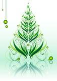 καλλιγραφικό πράσινο xmastree Στοκ φωτογραφία με δικαίωμα ελεύθερης χρήσης