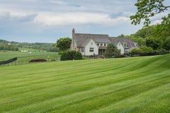 Καλλιεργήσιμο έδαφος που περιβάλλει το πάρκο του William Kain στη κομητεία της Υόρκης, Pennsylva στοκ εικόνες