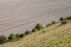 Καλλιεργήσιμο έδαφος του Σάσσεξ το φθινόπωρο στοκ εικόνες