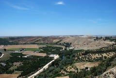 Καλλιεργήσιμο έδαφος, Arcos de Λα Frontera, Ισπανία. Στοκ εικόνα με δικαίωμα ελεύθερης χρήσης