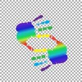 καλλιεργητικός το σύμβολο φιαγμένο από διάστημα χεριών και αντιγράφων ουράνιων τόξων ελεύθερη απεικόνιση δικαιώματος