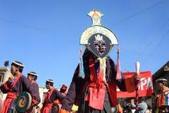 Καλλιεργητικό procesion κατά τη διάρκεια του φεστιβάλ Ladakh Στοκ Φωτογραφία