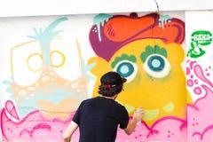 Καλλιτέχνες γκράφιτι Στοκ Φωτογραφία