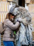Καλλιτέχνες στις οδούς της Φλωρεντίας, Ιταλία στοκ εικόνα