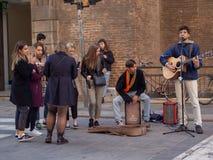 Καλλιτέχνες στις οδούς της Φλωρεντίας, Ιταλία στοκ φωτογραφίες με δικαίωμα ελεύθερης χρήσης
