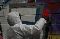 Καλλιτέχνης γκράφιτι Στοκ εικόνα με δικαίωμα ελεύθερης χρήσης