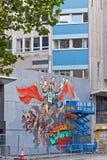 Καλλιτέχνης οδών στην εργασία Στοκ Φωτογραφίες