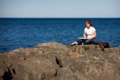 καλλιτέχνης lakeshore Στοκ φωτογραφίες με δικαίωμα ελεύθερης χρήσης