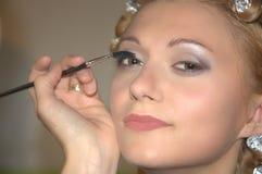 καλλιτέχνης makeup Στοκ Εικόνα