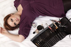 καλλιτέχνης makeup Στοκ Φωτογραφία