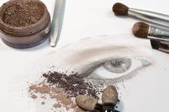 καλλιτέχνης makeup στοκ εικόνα με δικαίωμα ελεύθερης χρήσης
