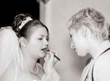 καλλιτέχνης makeup Στοκ φωτογραφία με δικαίωμα ελεύθερης χρήσης