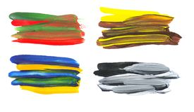 Καλλιτεχνικά ζωηρόχρωμα κτυπήματα βουρτσών watercolor στοκ εικόνα με δικαίωμα ελεύθερης χρήσης