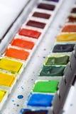 Καλλιτεχνικά χρώματα aquarell Στοκ φωτογραφία με δικαίωμα ελεύθερης χρήσης