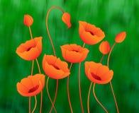 Καλλιτεχνική ανασκόπηση λουλουδιών Στοκ Εικόνες
