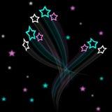 Καλλιτεχνική ανασκόπηση πεδίων αστεριών Στοκ εικόνες με δικαίωμα ελεύθερης χρήσης