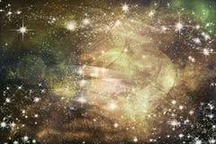 Καλλιτεχνική αφηρημένη εκλεκτής ποιότητας ονειροπόλος σύσταση που γεμίζουν με τα φωτεινά αστέρια διανυσματική απεικόνιση