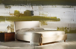 Καλλιτεχνική διακόσμηση κρεβατοκάμαρων Στοκ Φωτογραφία