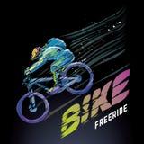 Καλλιτεχνικός τυποποιημένος ποδηλάτης απεικόνιση αποθεμάτων