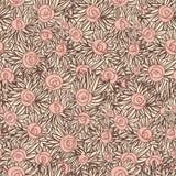 Καλλιτεχνικό άνευ ραφής πρότυπο με τα τριαντάφυλλα Στοκ Φωτογραφία
