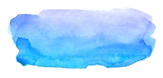 Καλλιτεχνικό κόκκινο κτύπημα βουρτσών Watercolor για το κείμενο διανυσματική απεικόνιση