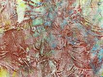 Καλλιτεχνικό υπόβαθρο καμβά με τις εκφραστικές γραμμές κτυπήματος βουρτσών Στοκ Φωτογραφίες