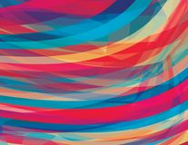 Καλλιτεχνικό υπόβαθρο με τα λωρίδες χρώματος διάφορο διάνυσμα παραλλαγών προτύπων πιθανό Στοκ Εικόνα