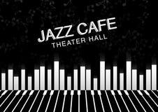 Καλλιτεχνικό υπόβαθρο νύχτας τζαζ Αφίσα για το φεστιβάλ τζαζ Στοκ εικόνα με δικαίωμα ελεύθερης χρήσης
