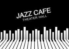 Καλλιτεχνικό υπόβαθρο νύχτας τζαζ Αφίσα για το φεστιβάλ τζαζ Στοκ Φωτογραφίες