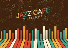 Καλλιτεχνικό υπόβαθρο νύχτας τζαζ στο χρώμα Αφίσα για το φεστιβάλ τζαζ Στοκ φωτογραφίες με δικαίωμα ελεύθερης χρήσης