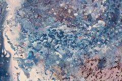Καλλιτεχνικό υπόβαθρο φιαγμένο από ραβδώσεις δασικός ποταμός ελαιογραφίας τοπίων διανυσματική απεικόνιση