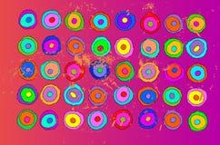 καλλιτεχνικό χρώμα ανασκό Στοκ Φωτογραφίες