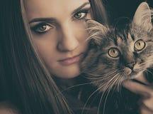 Καλλυντικά & σύνθεση Όμορφο θηλυκό μάτι με το προκλητικό μαύρο σκάφος της γραμμής στοκ φωτογραφίες