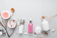 Καλλυντική φύση skincare και ουσιαστικό πετρέλαιο aromatherapy Οργανικό φυσικό προϊόν ομορφιάς Βοτανική εναλλακτική ιατρική Στοκ Εικόνα