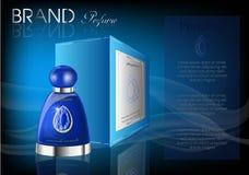Καλλυντικό μπλε χρώμα κιβωτίων συσκευασίας προϊόντων Στοκ φωτογραφία με δικαίωμα ελεύθερης χρήσης