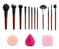 Καλλυντικό σύνολο εργαλείων Makeup Στοκ φωτογραφία με δικαίωμα ελεύθερης χρήσης