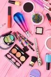 Καλλυντικό σύνολο Makeup μόδας Στοκ Φωτογραφία