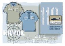 Καλλωπισμός πουκάμισων πόλο διανυσματική απεικόνιση