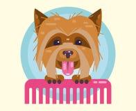 Καλλωπισμός σκυλιών Κτενίσματος και καλλωπισμού κατοικίδια ζώα κουρέματος, ελεύθερη απεικόνιση δικαιώματος