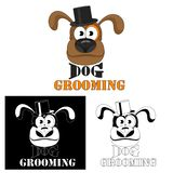 καλλωπισμός σκυλιών Λογότυπο υπηρεσιών σκυλιών για τα σαλόνια και τους κομμωτές κατοικίδιων ζώων ελεύθερη απεικόνιση δικαιώματος