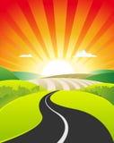 καλοκαίρι άνοιξης τοπίων &ch ελεύθερη απεικόνιση δικαιώματος